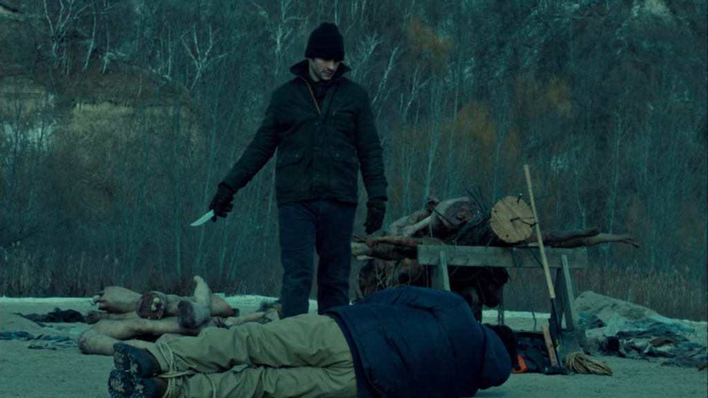 Will Graham from the TV show Hannibal imagines murdering a man