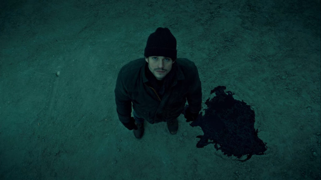 Overhead shot of Will Graham from the TV show Hannibal