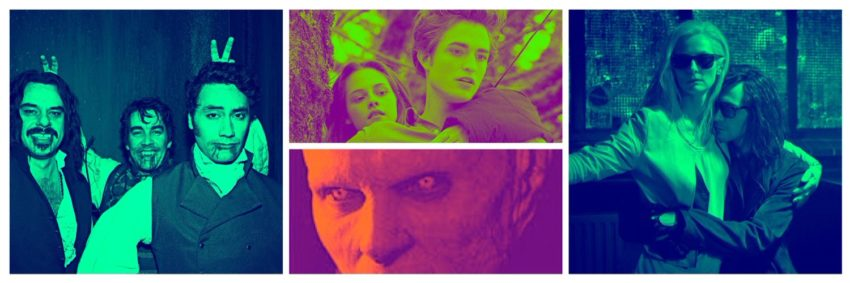 collage image of still from vampire films